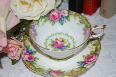 PARAGON  Tapestry  Rose Tea Cup and Saucer Bone China Made in England, tea party,