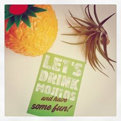 Summer is coming. Let's drink mojitos and have some fun! #postcard #mojito #summeriscoming #pineapple #tillandsia #summer #sunshine #letsdrinkmojitos #pineapplelove #mojitos #sunnyweather #parijsstraat  #livinglounge