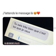 pin ; valentineeaa Message Mignon, Messages For Him, True Love, My Love, Maybe Someday, My Diary, French Quotes, Boyfriend Goals, I Don T Know