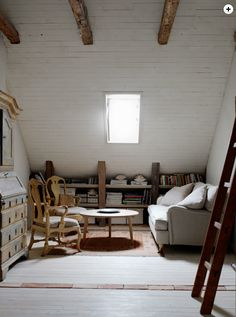 I've always wanted an awesome room in the attic. My own unconventional creative space away from everything.