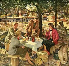 MILKY PINKY WAY: HOME LIFE IN AMERICA in 40's / Old Illustrations