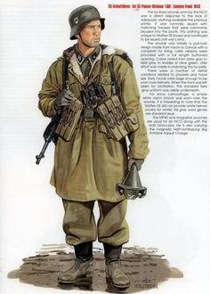 "Waffen SS - SS-Sharfuehrer, 1. SS Panzergrenadieren Division ""Leibstandarte Adolf Hitler"" - Ostfront, 1943"