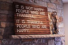 It is not happy people who are thankful, it is thankful people who are happy.  Kerry's Kronicles: Building Inspiration
