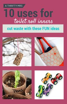 Ways to use toilet paper inners.