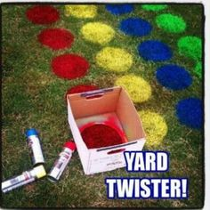 Giant-Sized Classic Games to Play Outside Grass Twister for graduation party? something for all the little cousins to doGrass Twister for graduation party? something for all the little cousins to do Fun Crafts, Crafts For Kids, Party Crafts, Kids Diy, Outdoor Fun, Outdoor Twister, Twister Game, Outdoor Parties, Infant Activities