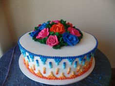 This cake is perfect for any fiesta! (No fondant needed)