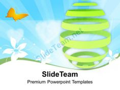 Green Umbrella With Laptop Technology Powerpoint Templates Ppt