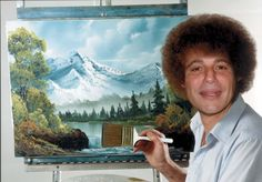 """Experience """"The Joy of Painting"""" with the Boss. Every day is a good day when you paint happy little trees."""