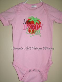 I'm Berry Sweet Embroidered Shirt by AYBoutique on Etsy, $22.00