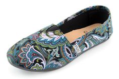Cute paisley shoes!  Perfect for summer and fall.