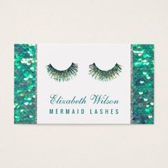 fairy mermaid lashes makeup artist business card - makeup artist gifts style stylish unique custom stylist