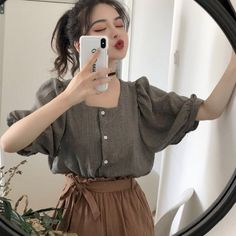 Discover fashion and beauty online with YesStyle! Shop for Women's Clothing - FREE Worldwide Shipping available! Korean Girl Fashion, Ulzzang Fashion, Korea Fashion, Asian Fashion, Girl Outfits, Casual Outfits, Fashion Outfits, Aesthetic Fashion, Aesthetic Clothes