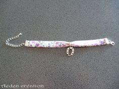 Bracelet Liberty - breloque fer à cheval argentée - Sophie : Bracelet par aeden