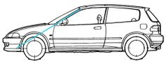 how to draw a 2010 honda civuic | how to draw : honda civic eg.easy.