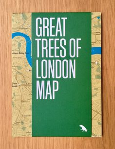 Great Trees of London Map - Printed Guide to London's Great Trees – Blue Crow Media