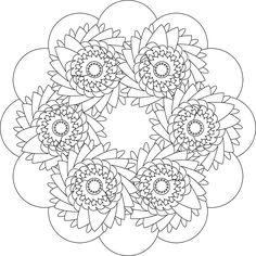 中間花の着色ページ: 中間花の着色ページ 5623
