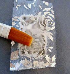 Liquid polymer clay tutorial with organza by Marcia Tzigelnik. Tutorial de arcilla polimérica líquida con organza embebida, por Marcia Tzigelnik.