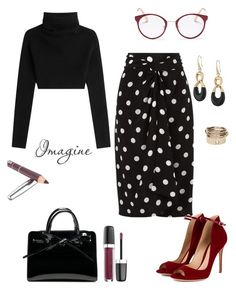 """""""Present."""" by schenonek ❤ liked on Polyvore featuring Valentino, Andrea Marques, Gianvito Rossi, Miu Miu, Michael Kors and Marc Jacobs"""