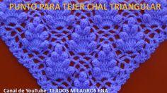 Punto a Crochet FRESITAS para tejer chal triangular, en punta o en V paso a paso - Вязание - Bonnet Crochet, Crochet Shawl, Crochet Lace, Crochet Stitches Patterns, Crochet Designs, Love Crochet, Irish Crochet, Puff Stitch Crochet, Pineapple Crochet