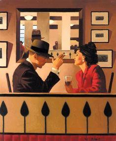 Jack Vettriano - Man in the Mirror (Study)