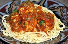 Spaghetti with Meatball (Chicken) Sauce