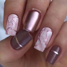 13 unique ways to wear marble nails . - 13 unique ways to wear marble nails # marble nail - Square Nail Designs, Marble Nail Designs, Marble Nail Art, Gel Nail Designs, Pink Marble, Black Marble, Nails Design, How To Marble Nails, Unique Nail Designs