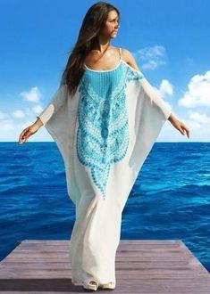 Victoria Luxury-silk│Victoria luxury silk Dress Looks - WEAR White Kaftan, White Silk Dress, Silk Kaftan, Silk Tunic, Maxi Cardigan, Patron Vintage, Beach Kaftan, Silk Charmeuse, Maxi Wrap Dress