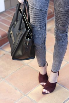 The heels are amazing! @Samantha Hutchinson / Could I Have That - Moto + Leather, a favorite pair of @jamesjeans