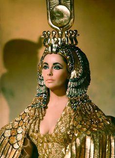 Elizabeth Taylor as Cleopatra, 1963.