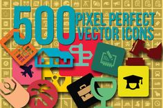 Check out 500 Vector Icons 50% Off by Arys Design on Creative Market