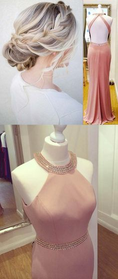 2017 prom dresses, long pink prom dresses, sexy prom dresses, hair style ,hairstyles,