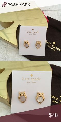 NEW!!! Kate Spade Owl Earrings NEW!!! Kate Spade Owl Earrings. 14k Gold plated with crystals. No Trades. Price is Firm Unless Bundled. 2 items 10% Off 3 Items 15% Off. kate spade Jewelry Earrings
