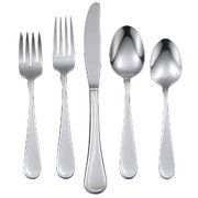Oneida Flight 45-Piece Stainless-Steel Flatware Set, Service for 8. For product & price info go to:  https://all4hiking.com/products/oneida-flight-45-piece-stainless-steel-flatware-set-service-for-8/
