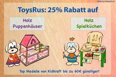 Steht eine Kidkraft Spielküche oder ein großes Holz Puppenhaus auf der Wunschliste Deiner Kinder? Bei ToysRus gibt es diese Woche 25 % Rabatt auf alle Holz Puppenhäuser und Holzküchen, so dass Du bis zu 60€ sparen kannst! Damit sind sie sogar günstiger als bei Amazon! Nur bis 27.11.2016.