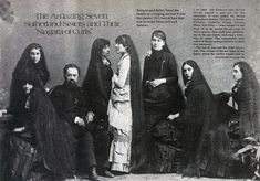 The Seven Sutherland Sisters | Barnum & Bailey Hair Show . From rags to riches, ending back in poverty - they created a hair tonic, accessories, etc . Read their story - quite entertaining