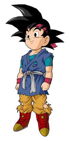 goku junior de pequeño es el iltimo hijo de goten y para nacio al mismo tiempo que vegeta junior - bueno