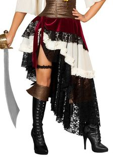 Pirate skirt - i like how the layers look on this one.