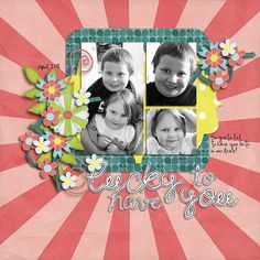 Layout by Natalie using Simple Spring Digital Scrapbooking Kit by Simple Girl Scraps