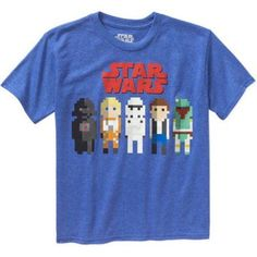 Star Wars Galaxy Bits Boys' Graphic Tee, Boy's, Size: 10/12, Blue