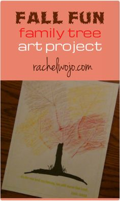 Gathering leaves? Save a couple for this fun family tree art project! Includes the free printable for the tree trunk and Bible verse!
