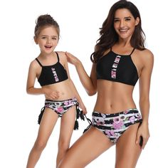 8b117e8736b68 Universe of goods - Buy New Girls Bikini Set Mom and Daughter Swimwear Mommy  and Me Swimsuit Beach Matching Outfits Black to XL