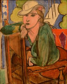 #henrimatisse #art The Green Blouse, Henri Matisse, 1938