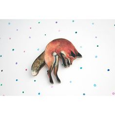 Fox Brooch (large) laser cut wooden fox badge pin from original... ($13) ❤ liked on Polyvore featuring jewelry, brooches, fox jewelry, pin brooch, pin jewelry, laser cut wood jewelry and wood jewelry
