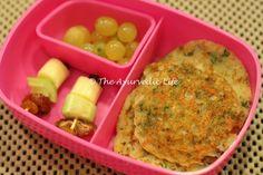 Sooji Pancake - Kid Lunch box ideas