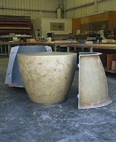 Concrete Molds - Countertop, Sink, and Furniture Molds - The Concrete Network Concrete Countertop Mix, Concrete Planter Molds, Fiberglass Planters, Cement Pots, Concrete Table, Concrete Cement, Concrete Furniture, Concrete Crafts, Concrete Projects
