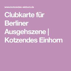 Clubkarte für Berliner Ausgehszene   Kotzendes Einhorn