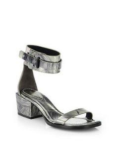3.1 PHILLIP LIM Coco Metallic Sheepskin Mid-Heel Sandals