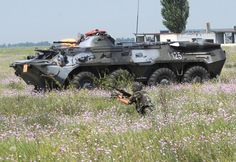 Picture of the BTR-90 The latest BTR-90 is a very off-road capable machine.v