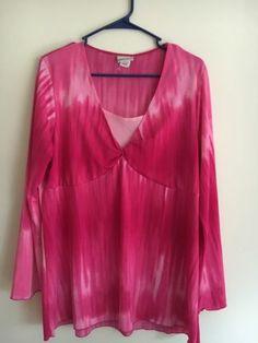 Fashion Bug Women's Plus 18/20 Pink Long Sleeve Blouse Top 1X   eBay