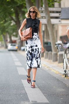 The Takeaway: Update the classic pencil skirt with a graphic print.